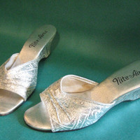 SOLD! Silver Nite-Aires Slippers