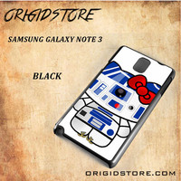 R2D2 Star Wars Hello Kitty Black White Snap On 3D For Samsung Galaxy Note 3 Case