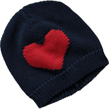 Old Navy Heart Knit Hats For Baby