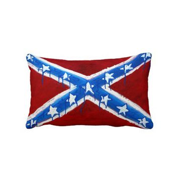 Rebel Flag Pillow from Zazzle.com