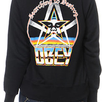 Obey Girls Searching To Destroy Black Zip Up Hoodie