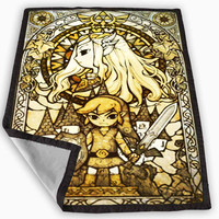 the legend of zelda the wind waker Glass Design Blanket for Kids Blanket, Fleece Blanket Cute and Awesome Blanket for your bedding, Blanket fleece **