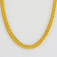 Shiny New Arrival Jewelry Gift Gold Strong Character Hip-hop Stylish Necklace [10529028931]