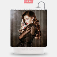 Ariana Grande with Gun Shower Curtain Free shipping Home & Living 157