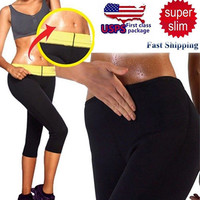 Womens Slimming Pants Sauna Body Shapers Control Tummy Workout