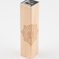 LMNT Mandala Wooden Portable Phone Charger | Tech