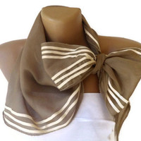 beige trend scarf , girly scarf, fashion accessory , cotton scarves