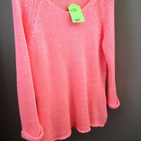 Neon Pink Knitted Sweater