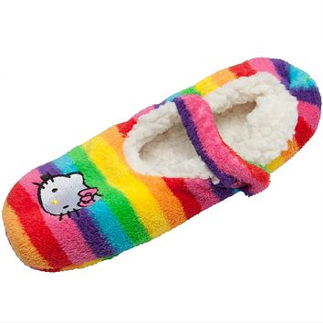 Hello Kitty - Face Rainbow Women's Slipper Socks