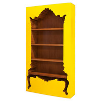 Bodhi Inside-Out Bookcase, Yellow, Bookcases & Bookshelves