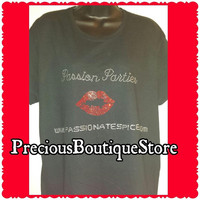 Passion Parties (Add your website) Rhinestone Shirt