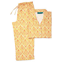 Clare Long Sleeve Pajamas, Yellow/Pink, Pajamas