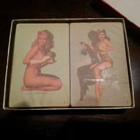 MacPherson Not According to Hoyle Nude Pin Up Double Deck Playing Cards w Tax Stamps