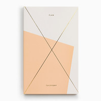 Gold Foil Any-Year Daily Planner - Apricot