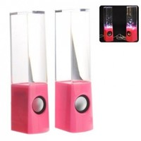 Foxnovo 2013 New Music Fountain Mini Amplifier Dancing Water Speakers USB Powered Colorful LED Fountain Dancing Water Mini Music Speakers for MP3 /Mobile Phones /Computer (Pink):Amazon:Home & Kitchen