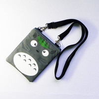 Small Japanese Manga Anime My Neighbor Totoro Bag,Iphone Bag,Cellphone Bag,Crossbody Bag,Messenger Bag,Shoulder Bag,Sling Bag,Hip Bag