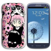 Soul Eater Crona White Plastic For Samsung Galaxy S3 Case