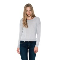 Womens Linen Mist Celeste Pullover Long Sleeve Sweater By One Grey Day
