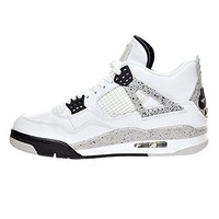 Air JORDAN 4 Retro Basketball Shoes For Men White/White Red/Gym Red