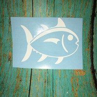 Southern Tide inspired Skip Jack,Fish preppy, Yeti decal, sticker/decal,phone decal,Ipad,laptop,car decal, sticker,decal,cover,preppy,summer