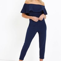 GIRLS ON FILM NAVY JUMPSUIT