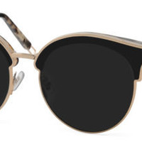 New Authentic Gentle Monster Black Frame Lens Sunglasses - SIGN OF TWO S3 GOLD