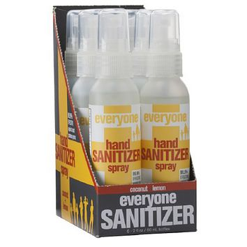 EO Products Hand Sanitizer Spray Everyone Coconut Dsp (6x2 FZ)