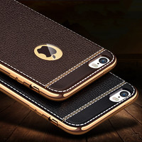 Fashion Luxury High Quality Plating Design Soft TPU Cover Case For iPhone 5 5s SE/ iPhone 6s Plus  Mobile Phone Bag Coque Capa