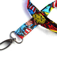 Marvel Heroes ID Badge Lanyard - Key Chain Lanyard Bright Wolverine Avengers