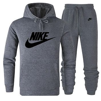 NIKE Women Men Lover Top Sweater Pants Trousers Set Two-Piece Sportswear