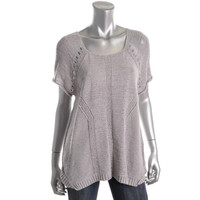 Marc by Marc Jacobs Womens Knit Short Sleeves Pullover Sweater