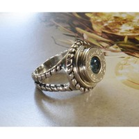 Birthstone Bullet Ring - Sterling Silver - Your Choice of Caliber