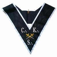Masonic collar - AASR - 30th degree - CKS - Cross Swords