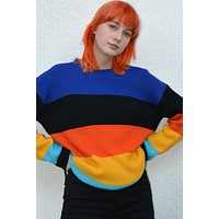 No Rules Bright Striped Sweater