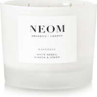 Neom Organics - Happiness White Neroli, Mimosa & Lemon scented candle, 420g