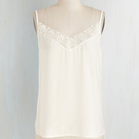 ModCloth Mid-length Spaghetti Straps Thinking Out Cloud Top