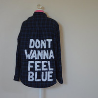 """Marina And The Diamonds """"Blue"""" Vintage Flannel"""