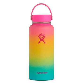 Limited Edition Hydro Flask Shaved Ice Ombre Wide Mouth 32oz - Hawaiian Rainbow
