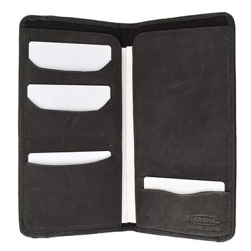 Genuine Leather Boarding Pass and Passport Holder with Credit Card Slots 565 CF (C)