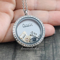 Graduation Locket, Personalized Graduation Necklace, Daughter Graduation Gift, High School Grad Gifts, Class of 2016, Hand Stamped Locket
