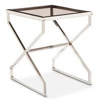 Nate Berkus™ Silver and Smoked Glass Accent Table