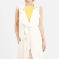 Women's Topshop Sleeveless D-Ring Duster