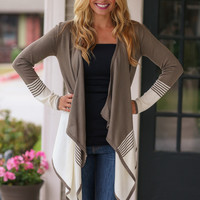 Should Have Been Us Cardigan - Olive and Cream
