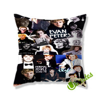 Evan Peters Collage Square Pillow Cover