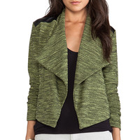 Jack By BB Dakota Hedia Moto Jacket in Green