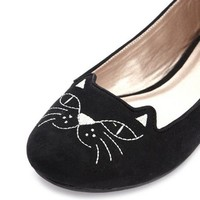 Cat's Meow Sueded Ballet Flat: Charlotte Russe