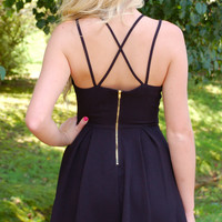 Show Off Your Tan Dress- Black