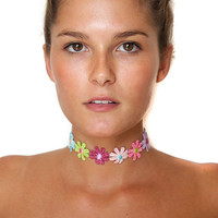 Flower Power Choker Necklace
