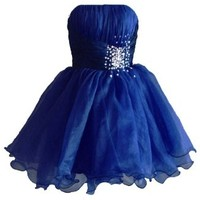 Faironly Zm3 Homecoming Mini Party Cocktail Dress (XS, Navy)