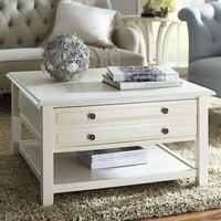 Anywhere Square Coffee Table - Antique White